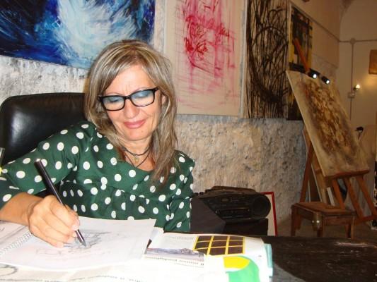 Assunta Fino-artista pugliese. Fonte foto: A.F.